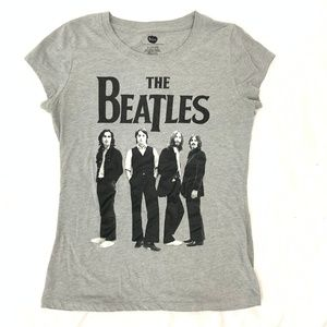 Beatles Gray Fitted Tee Shirt Size L